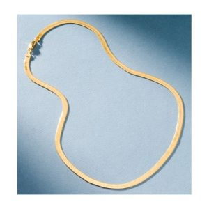 San Tropez Fashion Jewelry Herringbone Necklace - Yellow Gold
