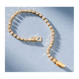 San Tropez Fashion Jewelry Rhinestone Bracelet - Yellow Gold