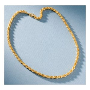 San Tropez Fashion Jewelry Rope Necklace - Yellow Gold