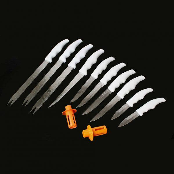 Culinary Executive Series - White Handled Knife Set