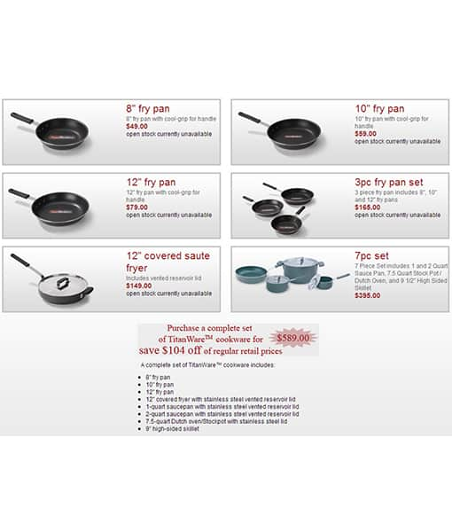 TitanWare Induction Cookware Complete Set